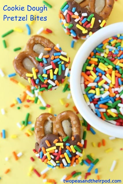 Cookie dough pretzel bites. | Delicious Treats | Pinterest