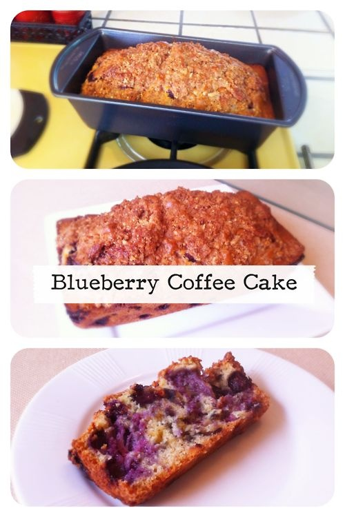 Almond Blueberry Coffee Cake | Food and drinks | Pinterest