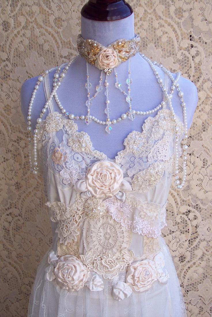 Wedding Dress Lace Italian : French vintage lingerie wedding gown italian by roselanijasmin