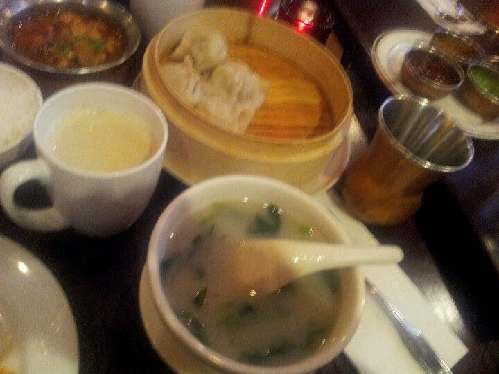 Steamed beef momo (Tibetan for steamed dumplings) and Himalayan soup ...