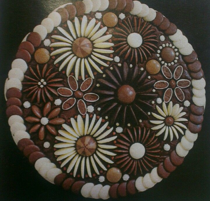 Cake Designs With Chocolate Buttons : Chocolate button cake. Cake Ideas Pinterest
