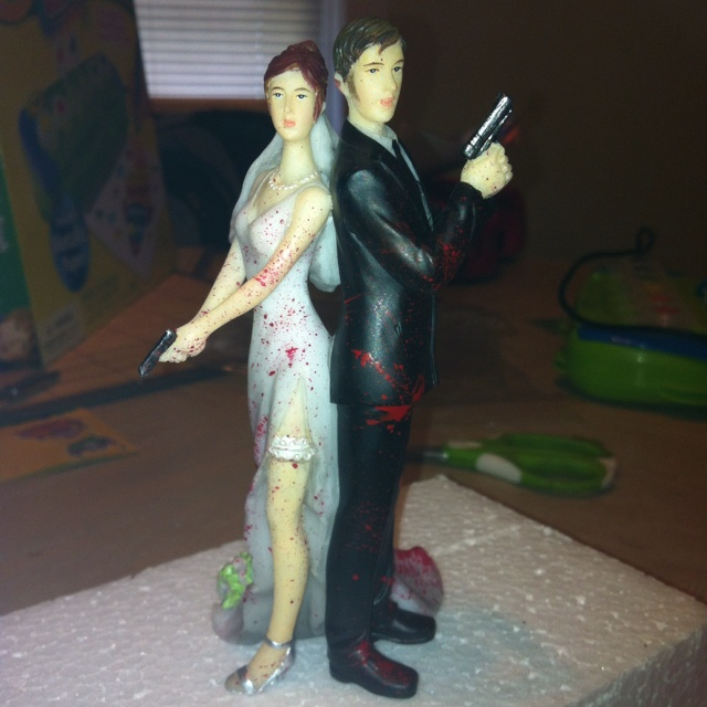 Permalink to Zombie Hand Cake Toppers