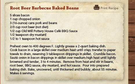 Root beer Barbeque baked beans | Favorite Recipes | Pinterest