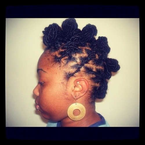 bantu knot-hawk   Locs Love   Pinterest