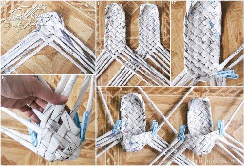 Как сделать изделия из газетных трубочек