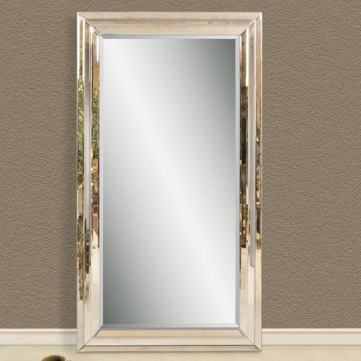 Huge leaning floor mirror