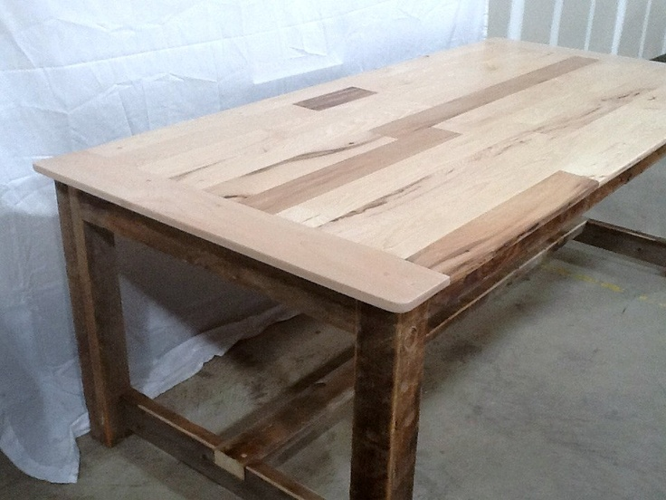 Rustic Colorado Barnwood Kitchen Table With Hickorypoplar Table Top