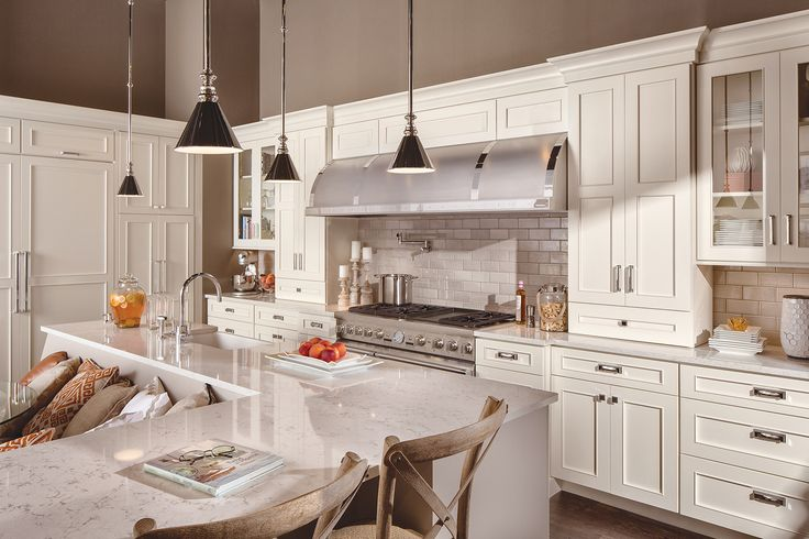 Featuring Dura Supreme Cabinetry with the Silverton Panel cabinet door