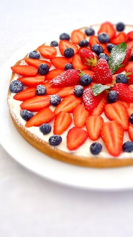 Strawberries & Blueberries Tart | My recipe | Pinterest