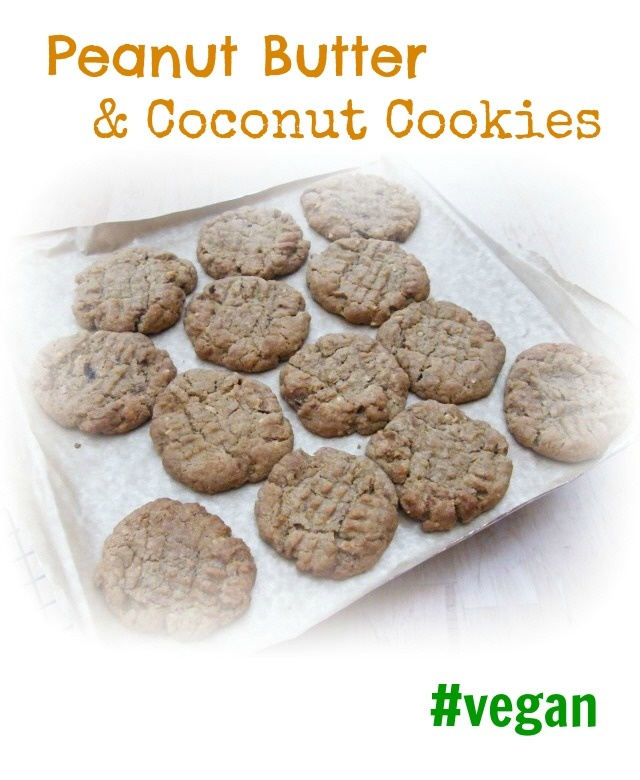 Vegan Peanut Butter and Coconut Cookies | sweet yumminess | Pinterest
