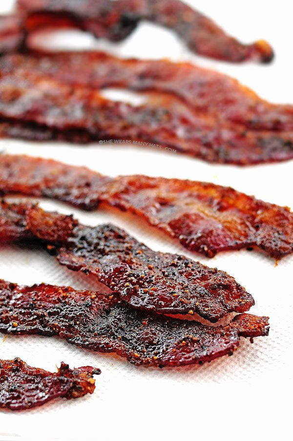 Grilled {or Oven} Candied Bacon Recipe ~ Easy peasy... Bacon + brown ...