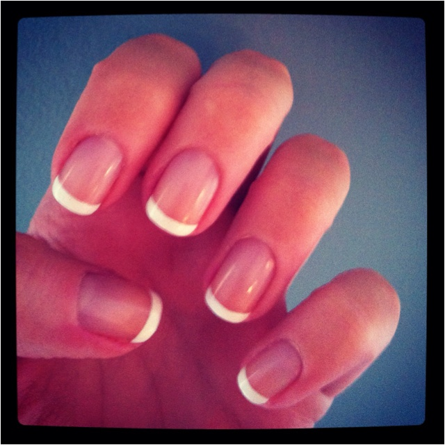 love a simple French manicure :)