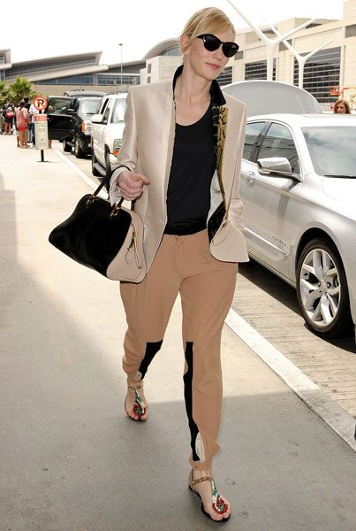 What do you think?  Does Cate Blanchett have the best airport style ever?