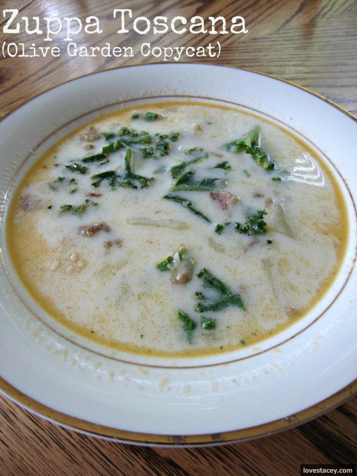 zuppa toscana olive garden copycat dinner ideas