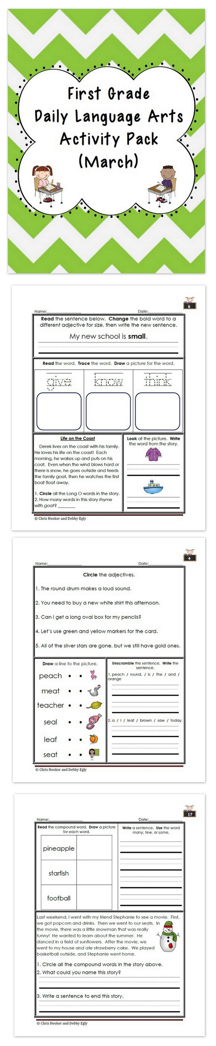 New 980 First Grade Warm Up Worksheets