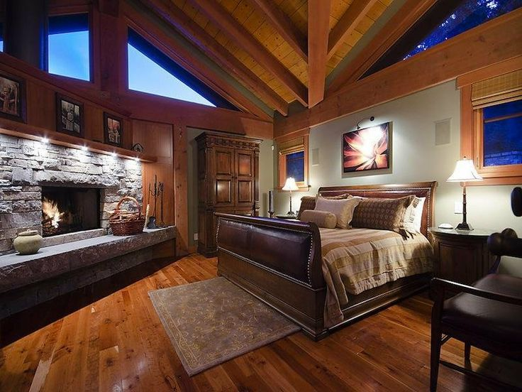 Master Bedroom Love The Stone Fireplace Dreamy Home
