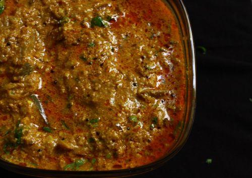 Eggplant Curry w/ peanuts - Andhra style | ANDHRA VANTALU | Pinterest