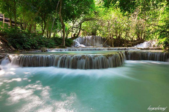 Thác Kuang Si tuyệt đẹp tại Luang Prabang, Lào
