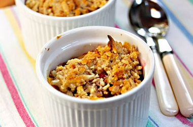 Gluten-Free Mango and Raspberry Crisp with Almond Topping ...