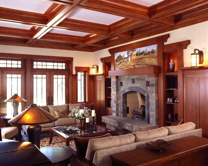 Craftsman Living Room Craftsman Style Pinterest