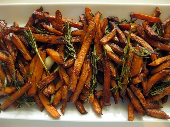 Rosemary and Garlic Sweet Potato Fries. These look good enough that I ...