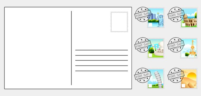 Editable Postcard Template – Printable Editable Blank