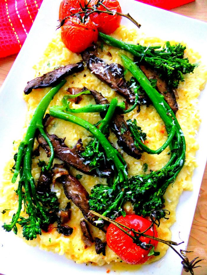 baked polenta with mushrooms polenta with wild mushrooms soft polenta ...