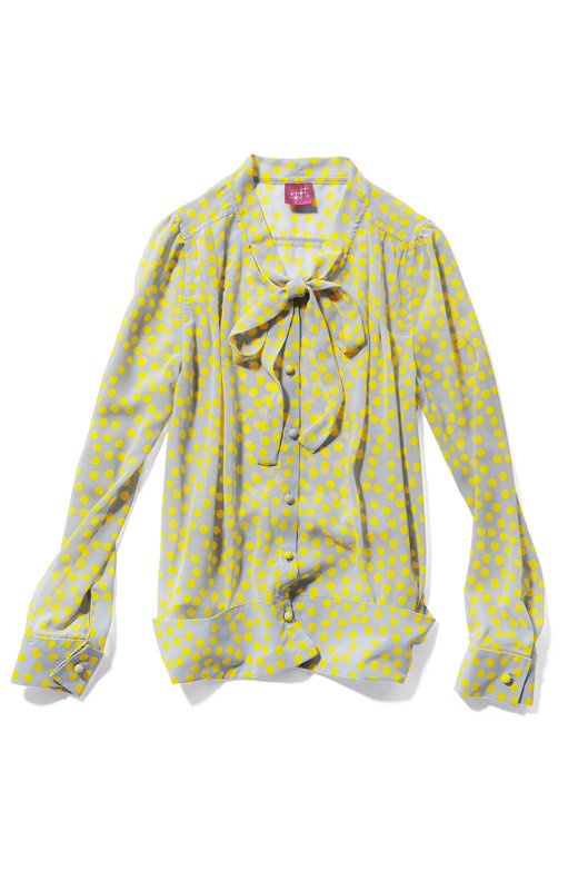 Yellow Bow Tie Blouse 95