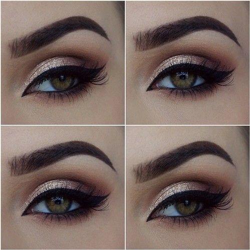 Вечерний красивый макияж для зеленых глаз 6