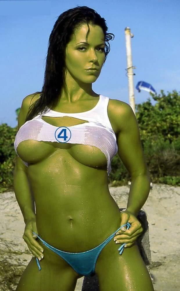 sexy she hulk | She-Hulk Wet Bikini cosplay SO HOT! | funny stuff ...