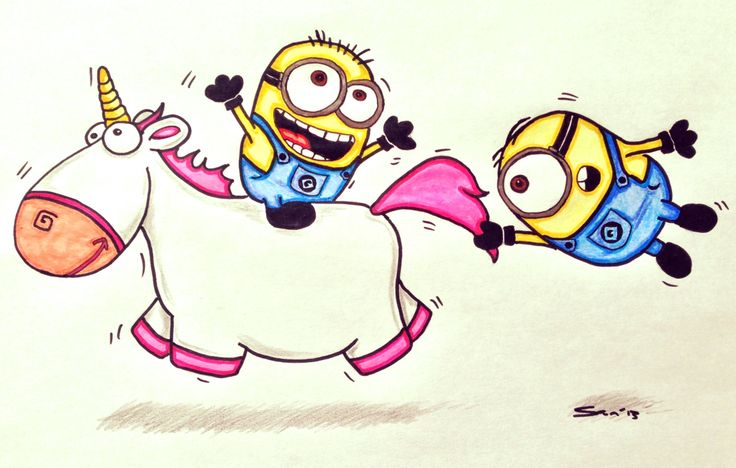 How To Draw Cute Despicable Me Minions  despicableme  homemadeDespicable Me Unicorn Drawing