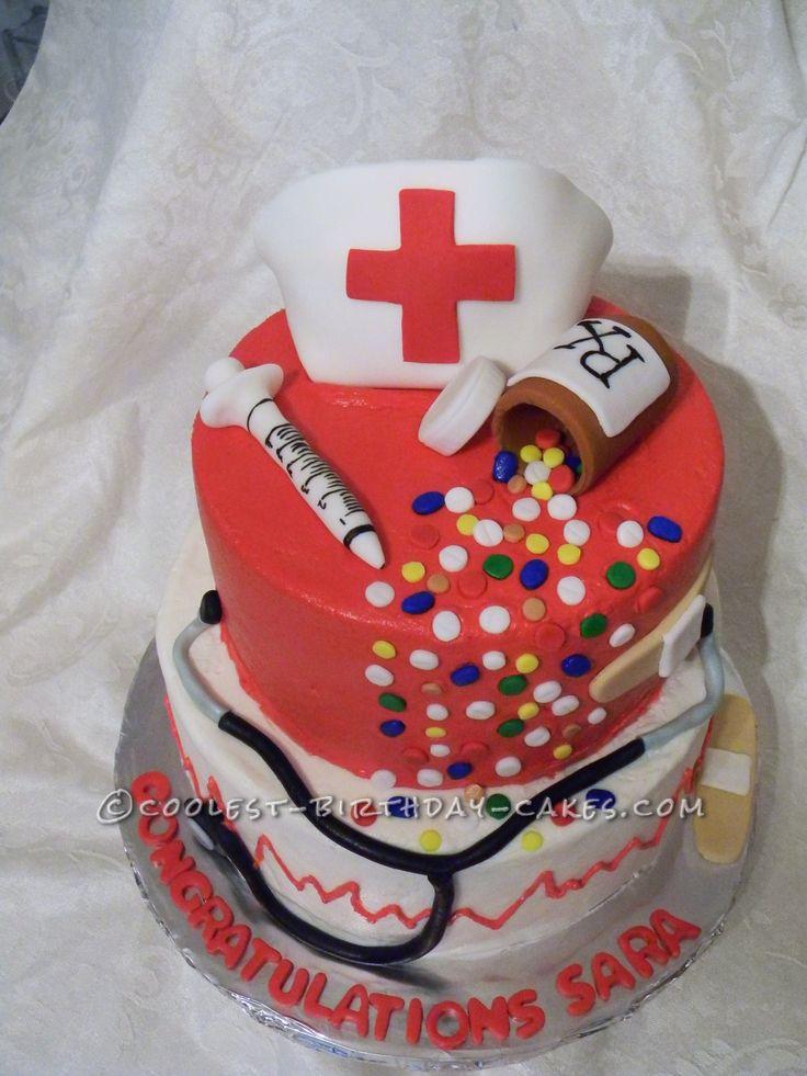 Nursing Cake Decoration Ideas : Coolest Nurse s Graduation Cake