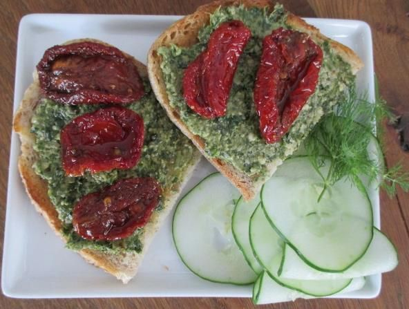 Crusty Sourdough Bread With Parsley Pesto Recipe — Dishmaps