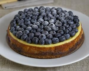 ... ve ever made: Rachels Allen's baked cheesecake with blueberries
