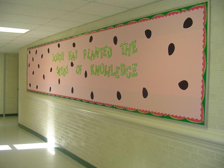 Watermelon Themed Bulletin Board | Bulletin Boards | Pinterest