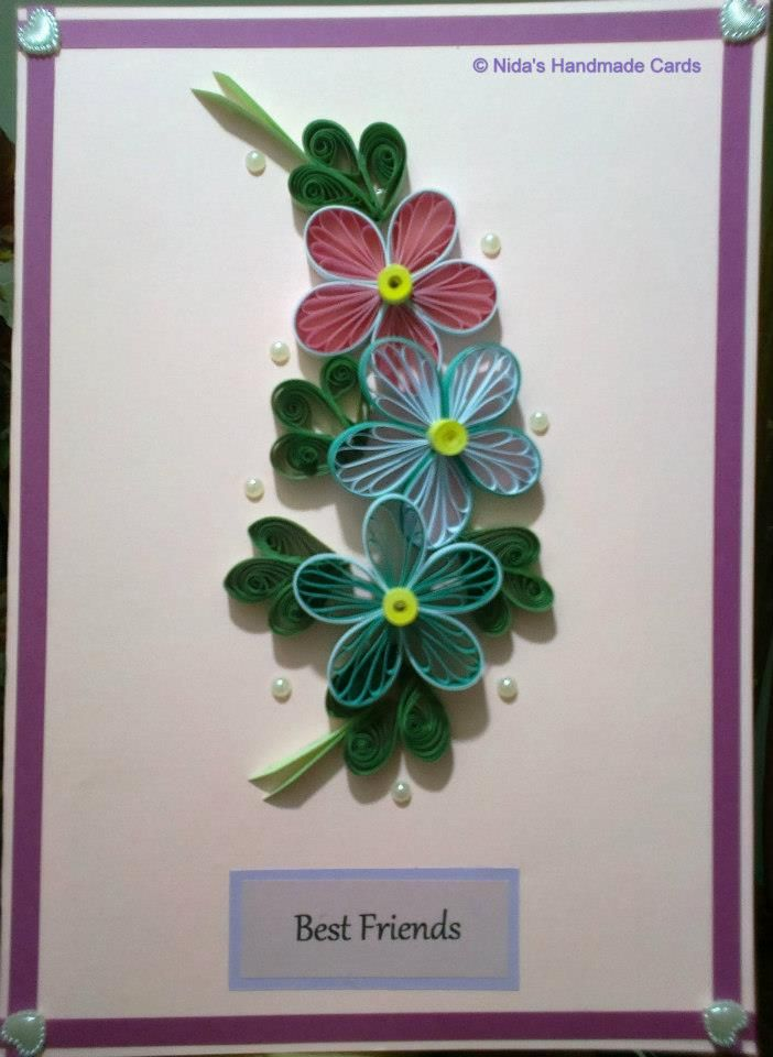 From nida s handmade cards quilling ideas pinterest