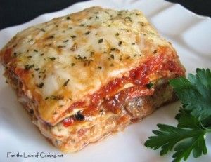 Chicken and Roasted Garlic Lasagna | the foodie in me | Pinterest