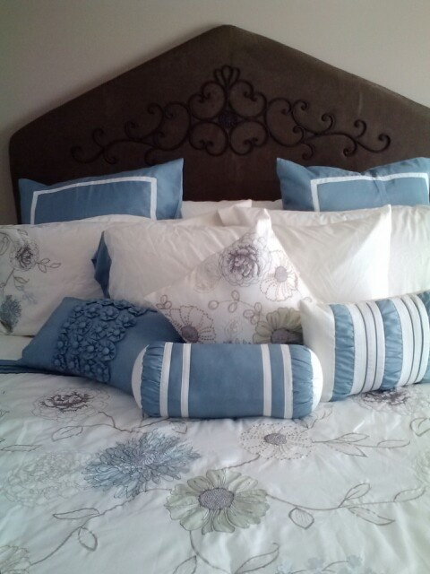 Fabric covered headboard  For the Home  Pinterest
