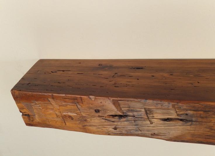 "978 - 48"" x 6.25""D x 5""H Reclaimed floating wood shelf ..."