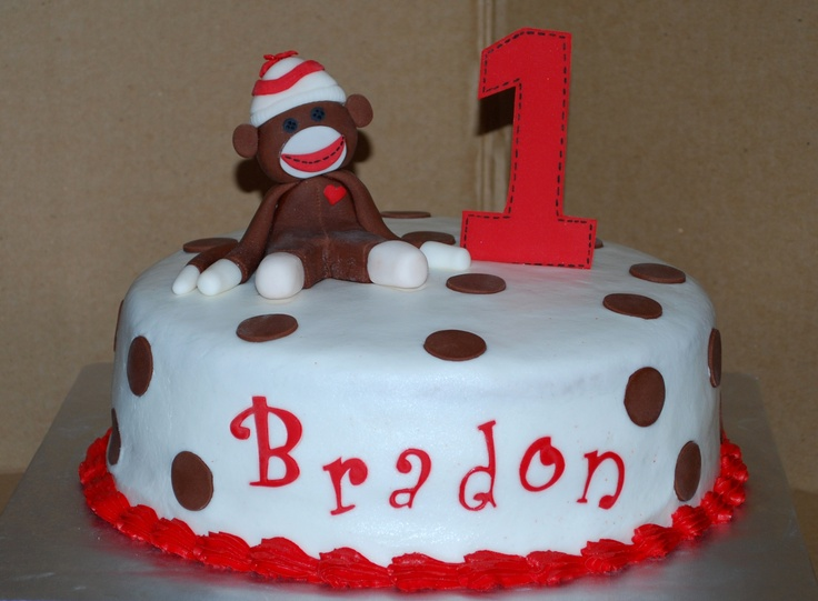 Sock Monkey Cake NutMeg Confections Party Planning Ideas Etc P