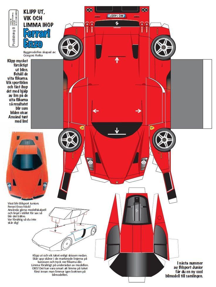 Как сделать модельку машины из бумаги