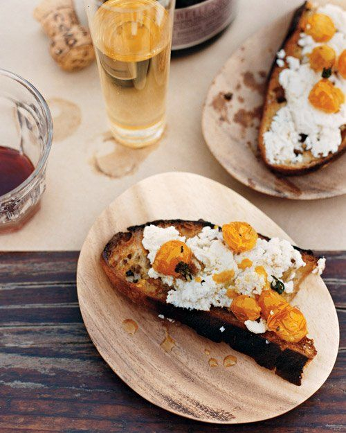 Ricotta with Roasted Cherry Tomatoes on Crostini   Recipe