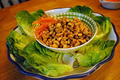 Cashew Chicken Lettuce Wraps | Dinner ideas | Pinterest