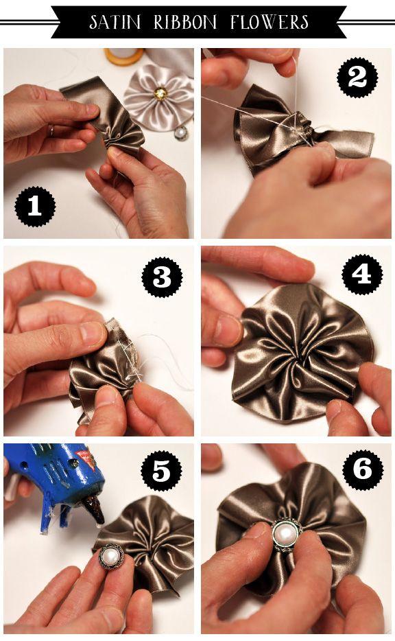 как сделать украшения из лент
