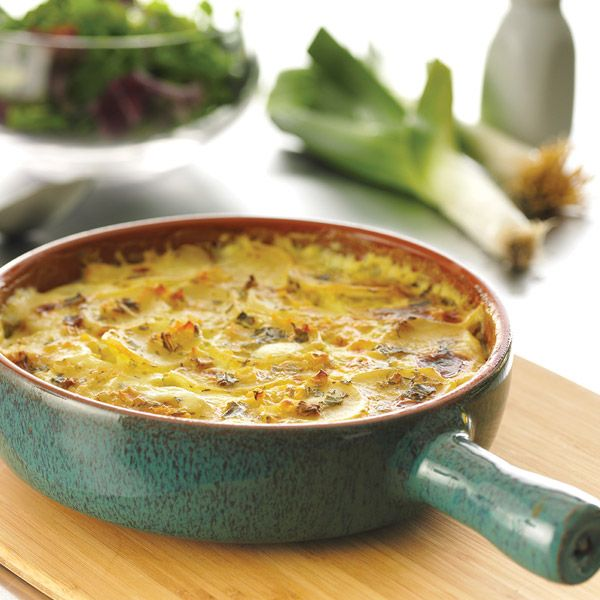 Scalloped Potatoes with cream of leek soup mix