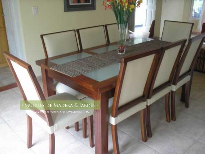 Mesa de comedor con vidrio mesas pinterest - Mesa comedor vidrio ...
