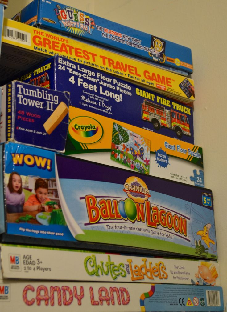 Board games: -Candy Land -Chutes & Ladders -Balloon Lagoon -Spring ...
