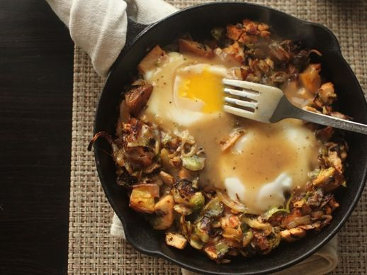 ... Leftovers: Brussels Sprouts, Potatoes, and Turkey Hash paleo
