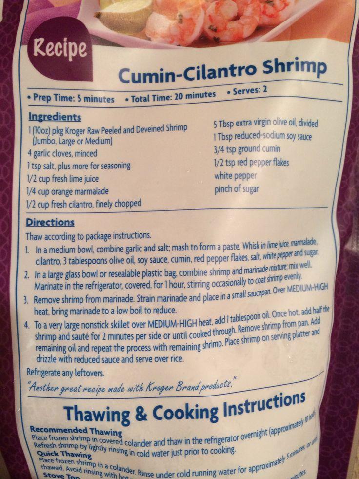 Cumin cilantro shrimp   Food   Pinterest