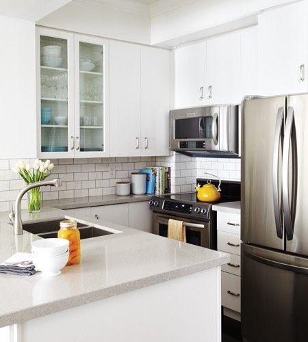 Light Quartz Kitchen Countertops: Light Grey Quartz Countertop